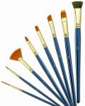 Customized Logo 4 Inch Artist Painting Brushes Liner Brushes For Oil Painting