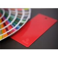Red Glossy Epoxy Polyester Powder Coating , Flat Smooth Heat Resistant Powder Coat