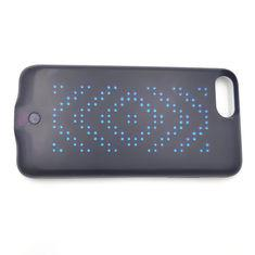 China Black / Pink Glowing Cell Phone Cases , Dynamic APP Editing Light Up Cell Phone Case on sale