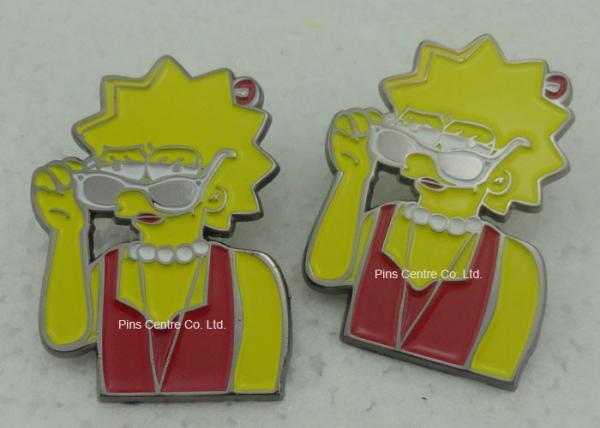 Die Struck Hard Enamel Pins , Brass Material Gold Plating Nurse
