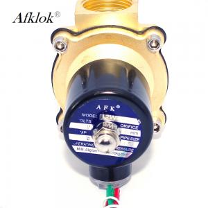 China 2/2 Solenoid Operated Water Valve , 2 Inch Electric Water Valve With NPT Thread on sale