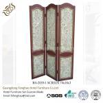 Wood Carving Air Brush Decorative Folding Screens Hotel Tri Fold Privacy Screen