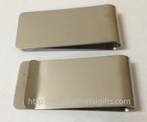 China Blank stainless steel money clips,available with custom logo,screen printed,etched,laser on sale