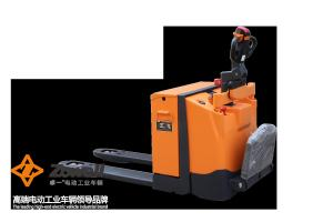 China 2 Ton industrial powered pallet jack With FREI Tiller and Handle Safety Guide on sale