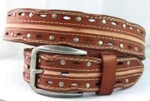 China western style wrapy real leather belts for men on sale
