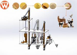 China 2 T / H Animal Poultry Pellet Feed Plant With Feed Grinder And Mixer Equipment on sale