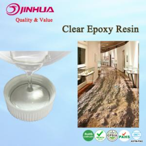 China Clear Hard Epoxy Resin Adhesive for Floor Coating / Flooring on sale