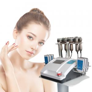 China 8 Inch Touch Screen Rf Cavitation Slimming Machine 100mv Non Surgical Laser Lipo Equipment on sale
