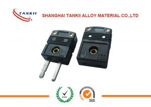 China Standard black J  Type Thermocouple Connector plug with solid pin used for thermocouple measurement on sale