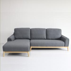 China Solid Ash Base Upholstered Sofa Chair , Grey Fabric Left Hand Corner Sofa on sale