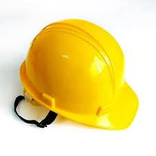 China Yellow Color Construction Site Helmet Easily Adjustable To Fit Heads on sale
