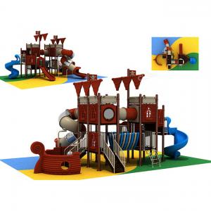 China China Plastic Pirate Ship Playground Children Outdoor Play Station Manufacturer on sale
