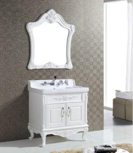 China 80 X 52 / cm antique white bathroom vanity , plastic bathroom mirror cabinet ISO2000 Standard on sale