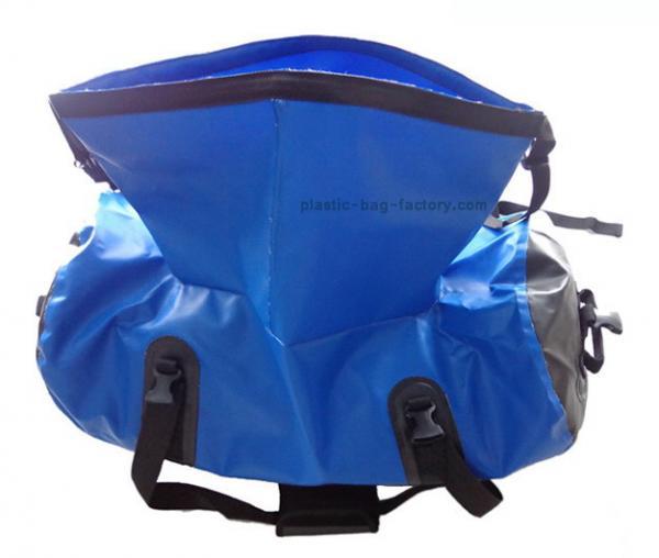 1c7b2bcb20 Roll-top Opening Blue 600D Tarpaulin PVC Waterproof Duffel Bags for  Travelling   Images