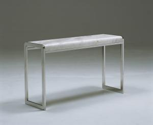Quality Rectangle White Marble Coffee Tables , Marble Top Console Table , Nice design for sale