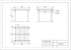 Quality DIY wood plastic composite pergola Construction for garden / 4mx4mx3m / OLDA-5001B for sale