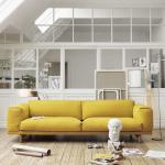 China Replica Muuto Rest Sofa Modern Style , 2 Seat Leisure Fabric Sofa Set wholesale