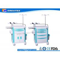 Mobile Medical Trolley For Hospital Newly Matched With CPR Board , Oxygen Cylinder Holder