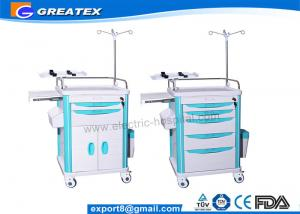China Mobile Medical Trolley For Hospital Newly Matched With CPR Board , Oxygen Cylinder Holder on sale