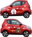 Customized Waterproof Car Stickers PVC Vinyl Cute Cartoon Animals