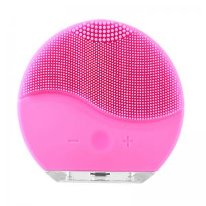 China Silicone Vibrating Waterproof Facial Cleansing Face brush Massager with USB Rechargeable on sale