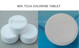 China 200g / Tablet Swimming Pool Chemicals Chlorine Tablet For Recycling Water on sale