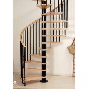 Quality Villas Design Wood Stainless Steel Small Spiral Stairs For Sale