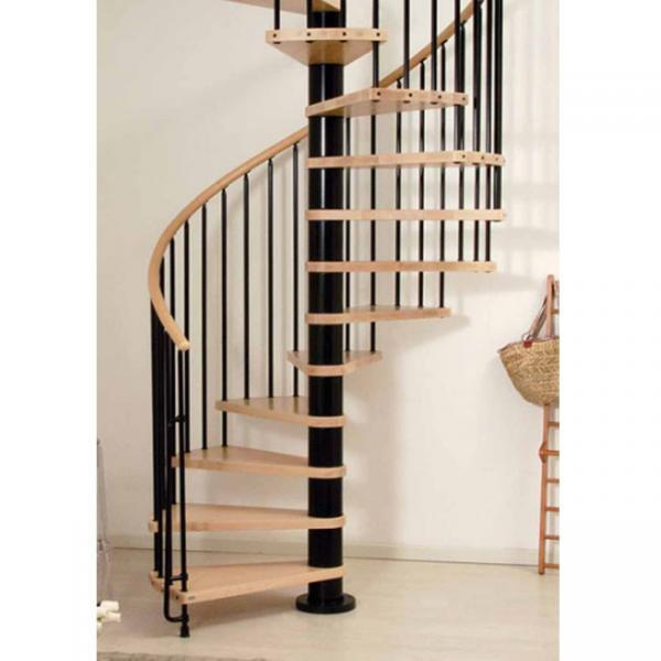 Villas Design Wood Stainless Steel Small Spiral Stairs Images