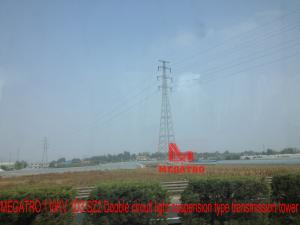 China MEGATRO 110KV 1D3-SZ2 Double circuit light suspension type transmission tower;110kv power line steel tower;110kv towers on sale