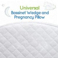 Waterproof Memory Foam Wedge Pillow Cotton Cover For Baby Bassinet White Color