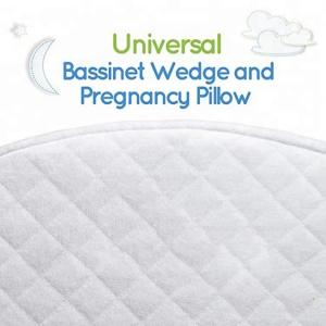 China Waterproof Memory Foam Wedge Pillow Cotton Cover For Baby Bassinet White Color on sale