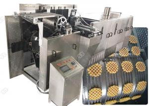 China Stainless Steel Waffle Biscuit Making Machine 3KW Cookies Maker Machine on sale