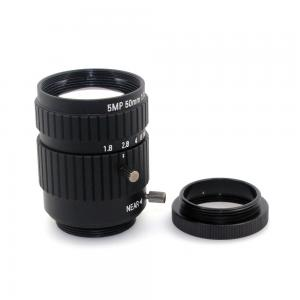 China 5MP 50mm Fixed Focus CS, C Mount for CCTV Camera Lens for cctv Industrial Microscope Camera on sale
