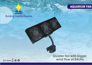 China 3000 RMP * 3 Pieces 12W Multi-directional Aquarium Cooling Fan With Clamp For 90 Degree on sale