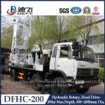 Manufacturer of 200m Depth Truck-mounted Water Well Drill Machines DFHC-200