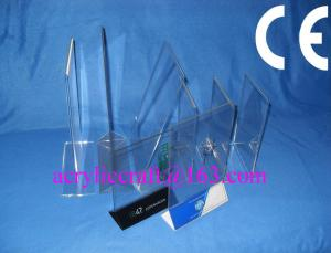 China Acrylic table stand menu holder, PMMA card holder menu stand for hotel supplies on sale