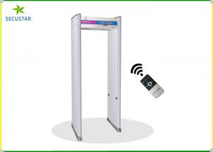 China Remote Control Walk Through Metal Detector Gate 6 Zones With Led Digital Count on sale