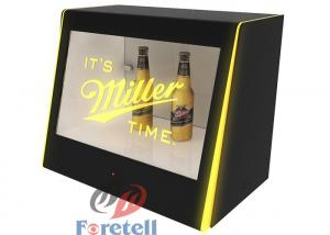 China Interactive Transparent Touch Screen Monitor Lcd Window Display Box MP3 Audio Format on sale