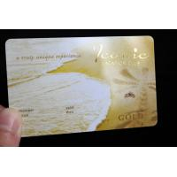 2018 Hot Sell Laser Gold PVC Business Card