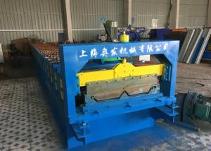 China Self Lock Roof Panel Roll Forming Machine , Corrugated Roofing Sheets Making Machines on sale
