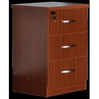 Red Medical Hospital Bedside Table With Locking Drawer 500x450x760mm