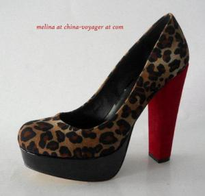 China leopard Closed Toe Platform Pumps on sale