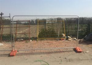 China Hot Dipped Galvanized Temporary Fence 2m x 3m Mesh 50mm*100mm diameter 3.00mm on sale