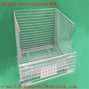 China welded wire mesh security cage/pallet cage/storage cage/metal bin/metal storage building/metal storage sheds/wire cage on sale