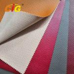 Soft Feeling Holes Pvc Artificial Leather High Tear Fastness For Car Seat Cover
