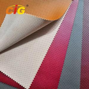 China Soft Feeling Holes Pvc Artificial Leather High Tear Fastness For Car Seat Cover on sale