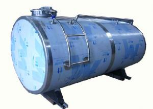 China Stainless Steel Milk Cooling Tank , Milk Chiller With Refrigeration System on sale