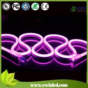 China 230v mini pink led flexible lighting strip rope double cover milky white pvc on sale