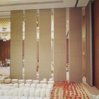 China Interior Decoration Sliding Folding Room Partition Walls With Melamine Finish on sale