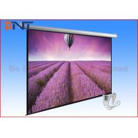 China Retractable Tensioned Projection Projector Screen 120 Inch With Romote on sale